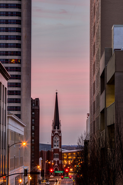 Nashville First Baptist Church at Dawn