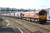 66119 passes Newport with 6B51, 0938 Onllwyn to Llanwern on 8th March 2014.