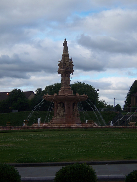 The fountain in Glasgow Green