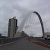 Some funky new bridge over the Clyde River in Glasgow