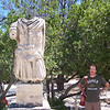 Matt next to a headless (and armless) statue - other than that it was in mint condition!