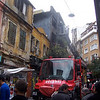 A random house fire in Beyoglu (north part of Istanbul)