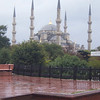 Back in Istanbul, the Blue Mosque on a very rainy day (in fact every day in Istanbul was rainy)