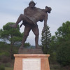 The statue to the fallen soldier