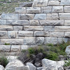 Cyclopean outer wall of amphitheater on Delos island, Greece