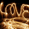 Love Sparkler Light Painting