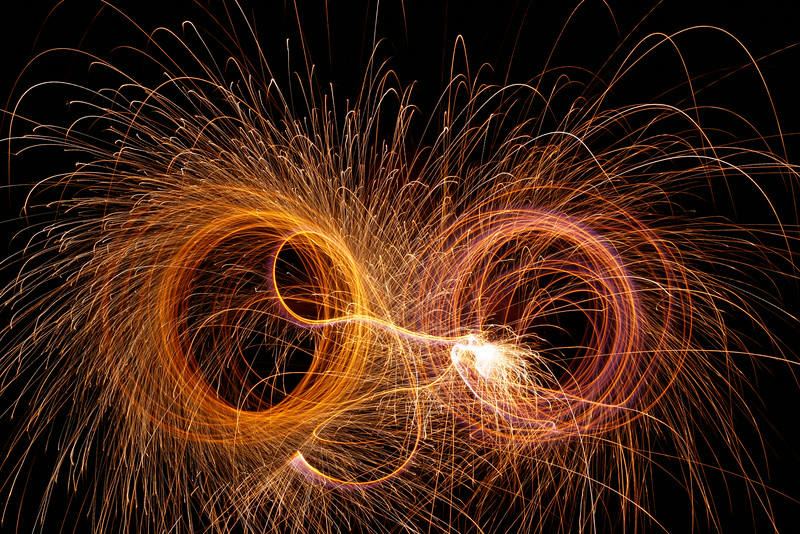Owl Sparkler Light Painting
