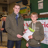 The junior winner, Tim Dyer from Garth Hall and David Porter from Wigton Auction Mart.