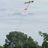 Colibri R/C glider climbing under thrust about a second after liftoff.  Photo by Greg Smith