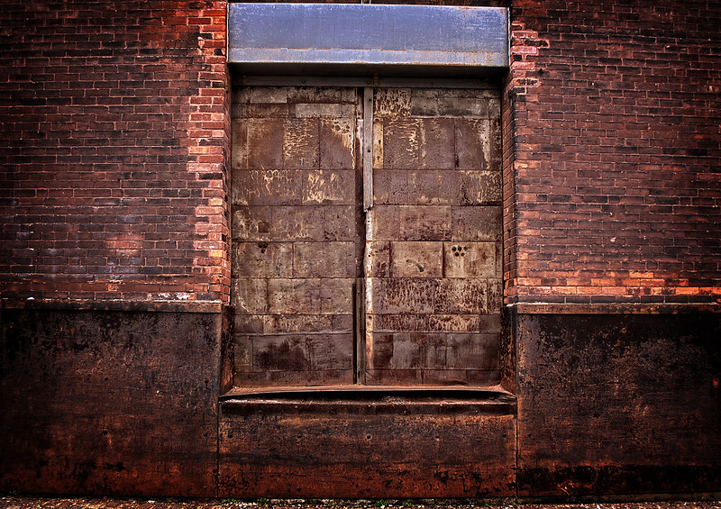 Rusty Wharehouse Door