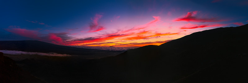 Sunset over Mauna Kea