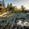 The Lighthouse at Pemaquid Point Reflected in Tidal Pool
