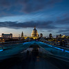 St. Paul Cathedral and Ghosts on the Millennium Bridge