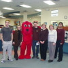 Clifford the Big Red Dog with the staff of LON, 2005.