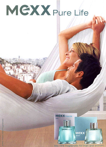 MEXX Pure Life 2003 Belgium -'The new fragrances for man and woman'