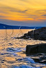 Sunset, Schoodic Point, Schoodic Peninsula, Acadia National Park, Maine, USA