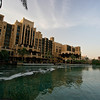 The Jumeirah Madinat hotel is located right next to the Burj Al Arab and also includes a shopping mall.