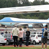 Air Force One lands slightly ahead of schedule