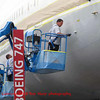 painting the 747 with a roller