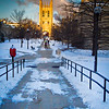 A winter morning with fresh snow on the Mizzou campus in Columbia.<br /> <br /> Photo by Kyle Spradley | © 2014 - Curators of the University of Missouri
