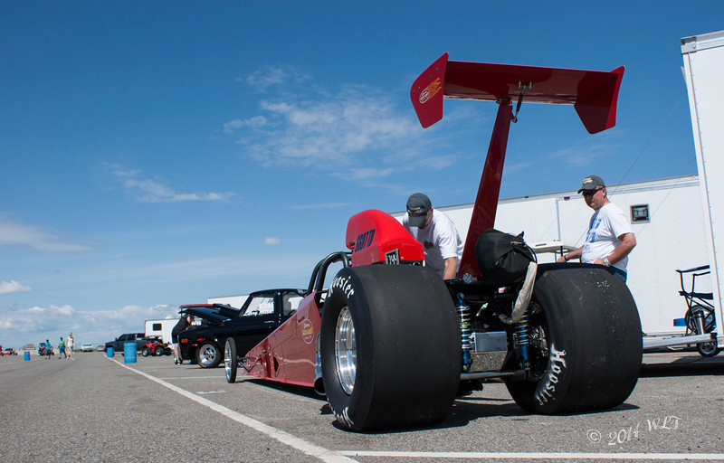 Dragster in the pits