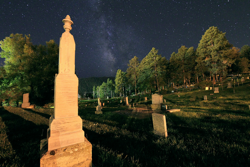 South Lead Cemetery under the Milky way