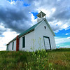 Old church along highway 1806 south of Ft. Pierre