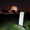 Fireworks over the Riverside Cemetery in Belle Fourche