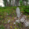Old grave near the ghost town of Carbonite above the rim of Spearfish Canyon