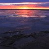Sunset on the shore of Okobojo Recreation Area north of Pierre