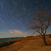 Star trails near Oahe Dam