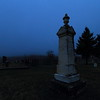 Foggy evening in Rose Hill Cemetery in Spearfish