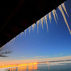 Icicles overlooking Oahe Dam