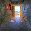 Looking out of the tower at Harney Peak