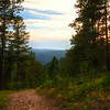 Road leading to the ghost town of Carbonite above the rim of Spearfish Canyon
