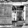 Underneath the car bridge in Pierre