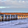 Evening near the intakes at Oahe Dam