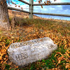 Old gravestone along the Centennial Trail near Sturgis