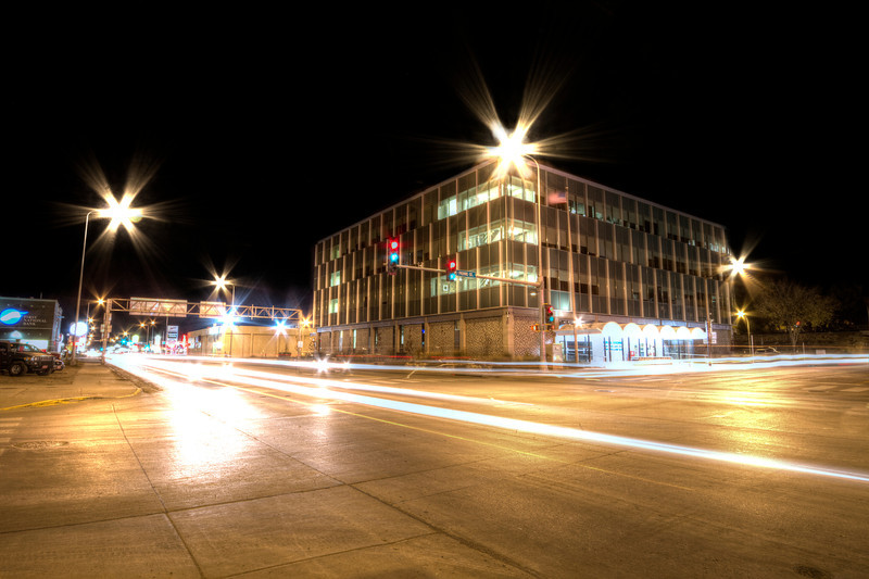 Downtown Pierre at night