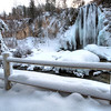 Ice and snow near Spearfish Falls in Spearfish Canyon