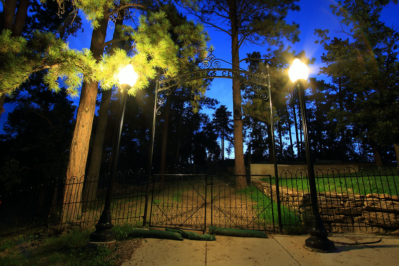 Gate at the St. Ambrose Cemetery in Deadwood