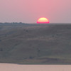 Sunset near Oahe Dam