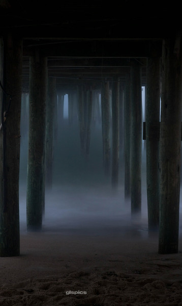 Under the Pier at Old Orchard Beach, Maine