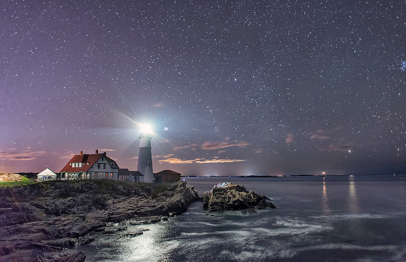 Portland Head Light at Night, Cape Elizabeth, Maine