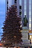 The Christmas tree in Monument Square