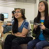 Two girl gamers enjoy the Playstation in the EPL Makerspace.  Taken on July 7, 2014 by James Cadden.