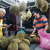 Calculating the evening's durian prices