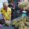 Opening up a durian
