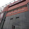 Statue of Sir Alex Ferguson in front of Old Trafford