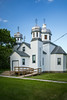 The Holy Ghost Ukrainian Orthodox Church exterior in Tolstoi, Manitoba, Canada.